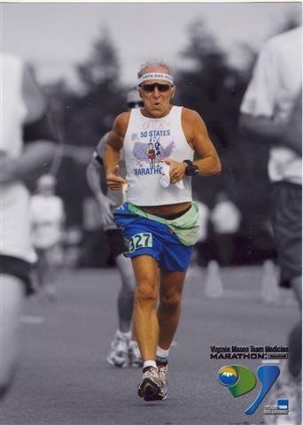 Rick Karampatsos running the Seafair Marathon in Bellevue, WA on 07/08/07 and this was Rick state #47