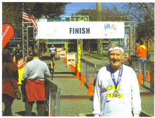 John Wallace 5 points of Life marathon in Gainesville, FL on Feb 16/14.